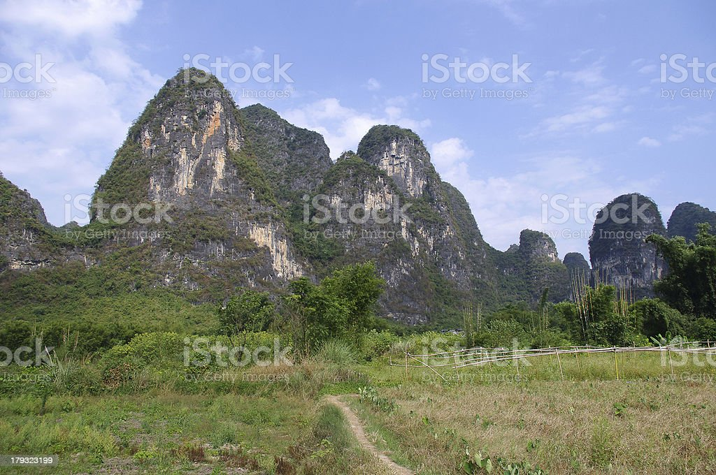 Mountain scenery in Guilin royalty-free stock photo