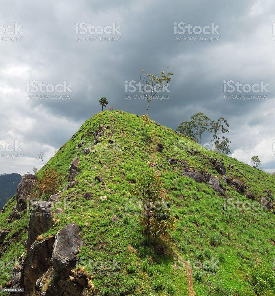 mountain scenery in Sri Lanka stock photo