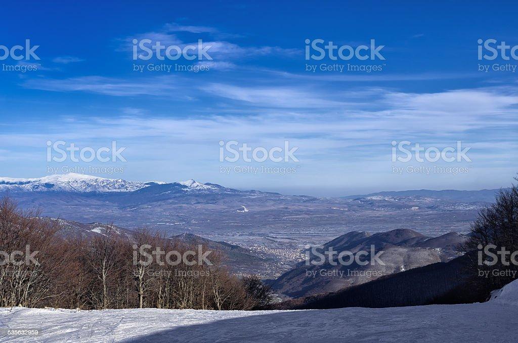 Mountain scenery in Vigla, Florina's ski center, Greece stock photo