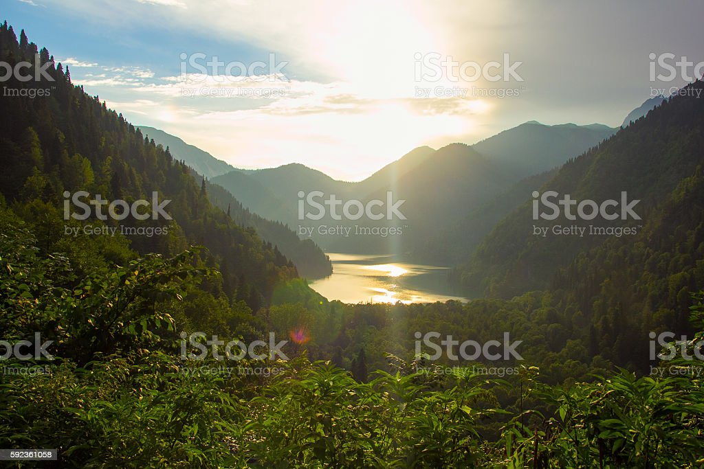 mountain scenery stock photo