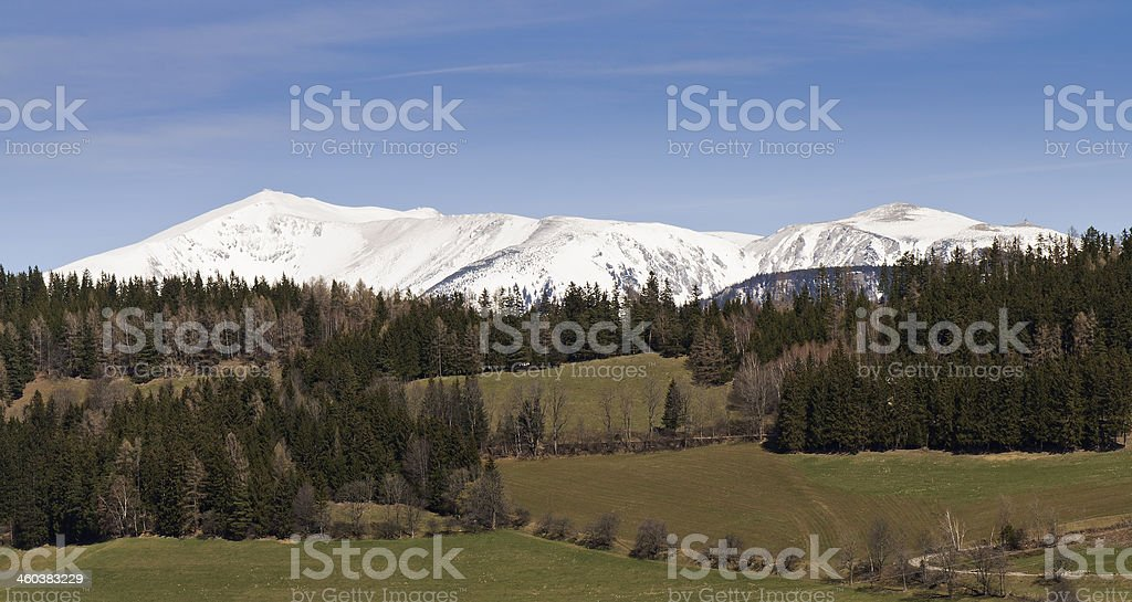 Mountain Schneeberg in early spring, Lower Austria, Europe stock photo