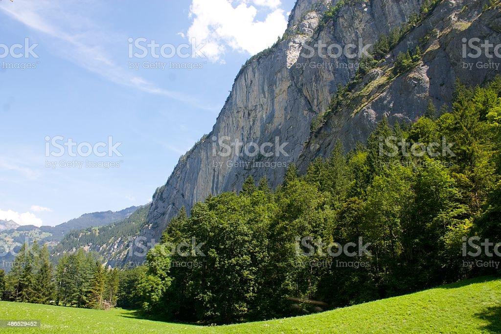 Mountain section stock photo