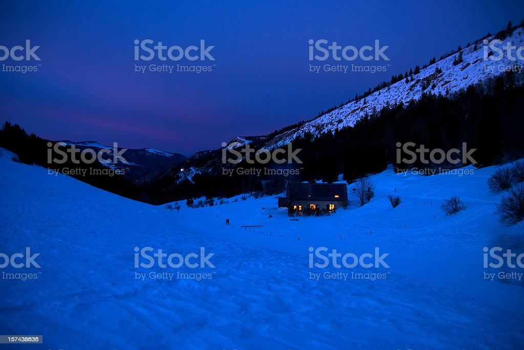 Mountain shack royalty-free stock photo