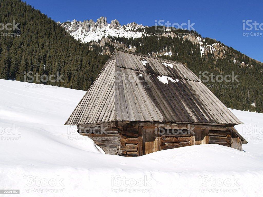 Mountain Shelter royalty-free stock photo