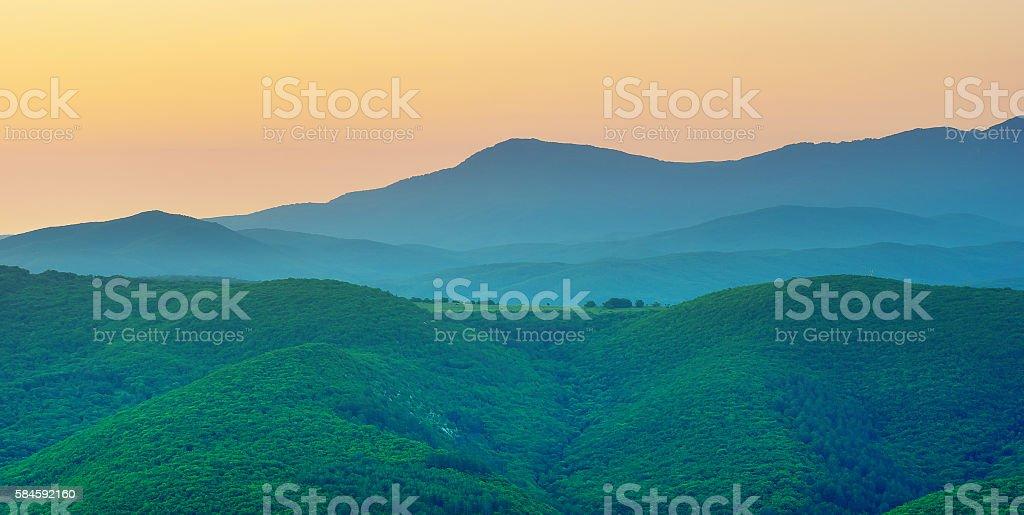 Mountain silhoutte stock photo