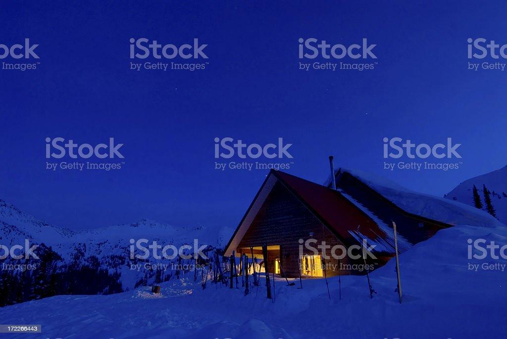 Mountain Ski Lodge - Selkirk Mountains Canada royalty-free stock photo