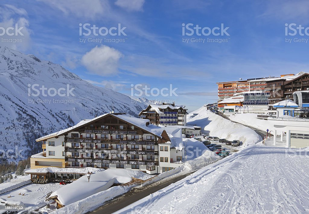 Mountain ski resort Hochgurgl Austria royalty-free stock photo