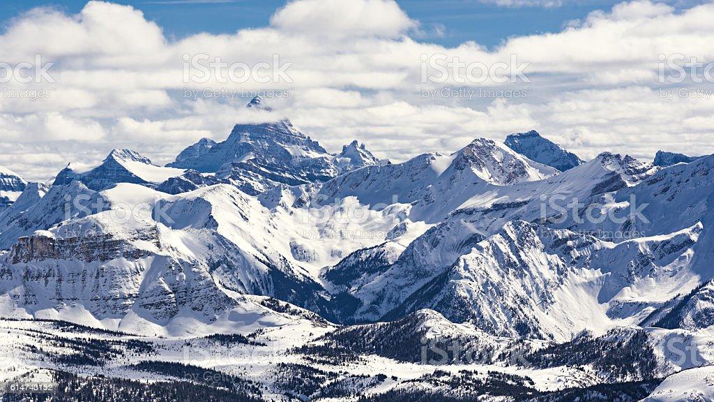 Mountain Ski Resort Mount Assiniboine Bannf National Park Alberta Canada stock photo