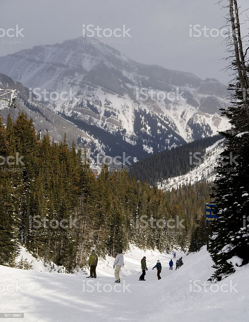 Mountain Ski Resort royalty-free stock photo