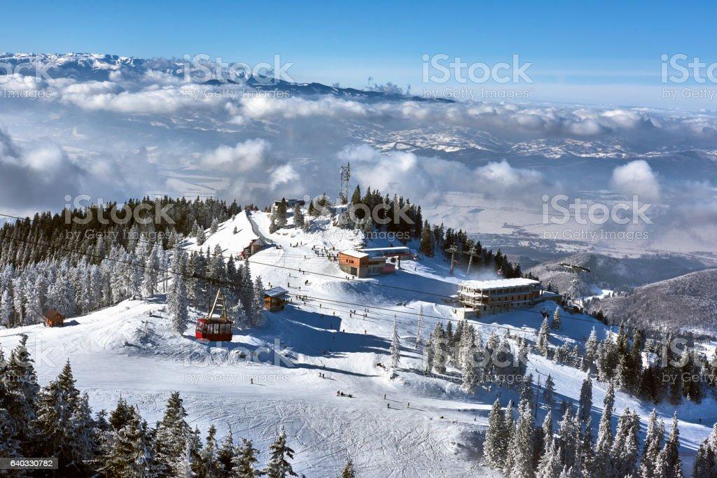 Mountain ski resort, Romania,Transylvania stock photo