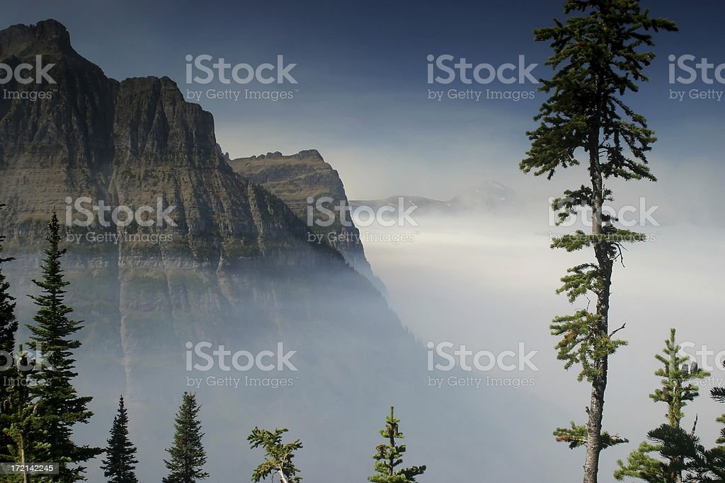 Mountain Smoke royalty-free stock photo
