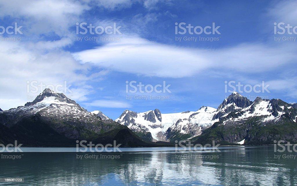 mountain snow lake royalty-free stock photo