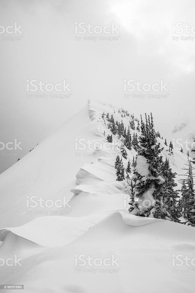 Mountain Snow stock photo