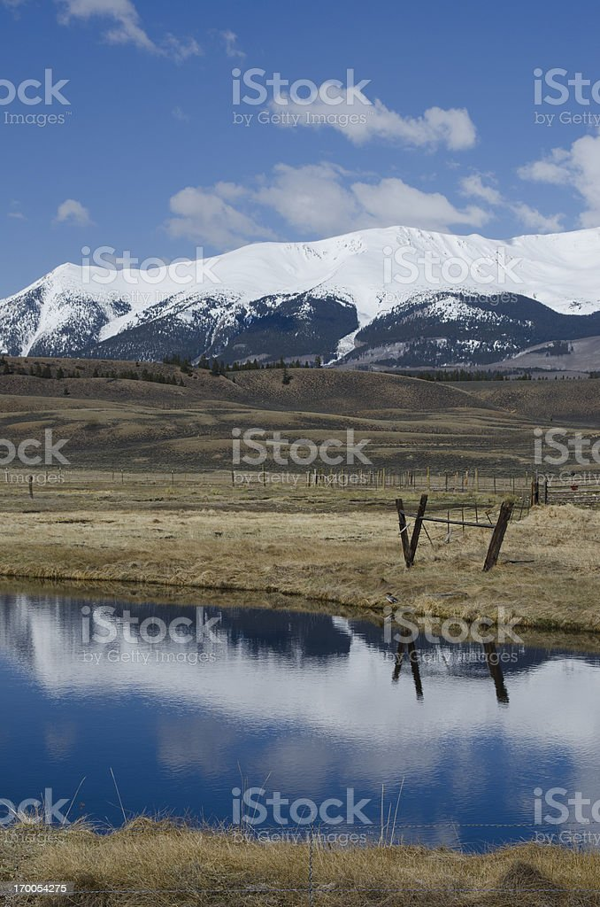Mountain Snow Reflected stock photo