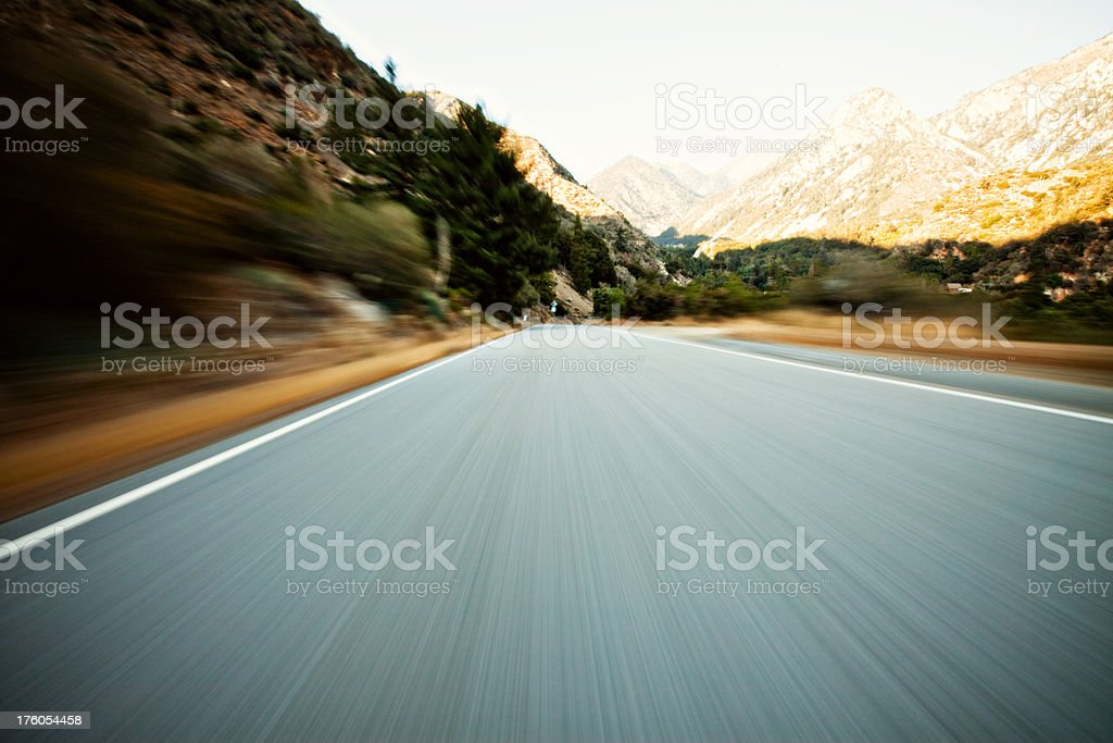 mountain speed driving royalty-free stock photo