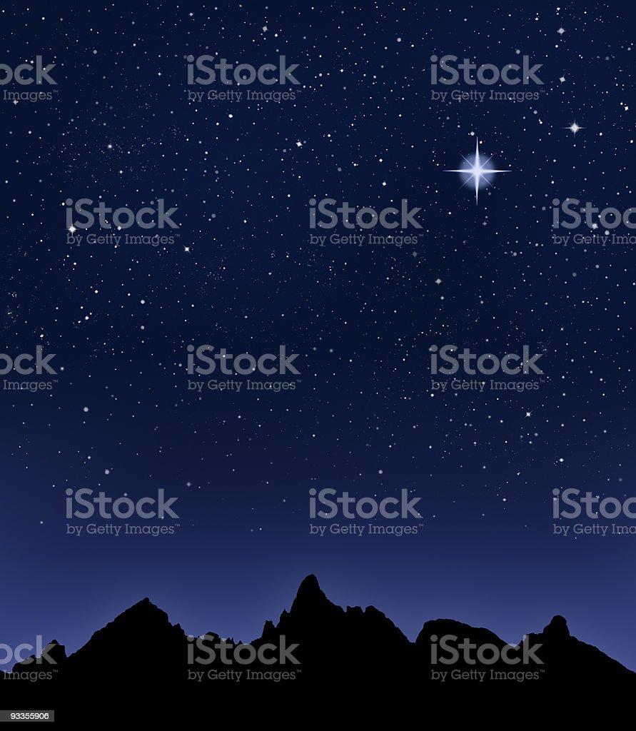 Mountain Starry Night stock photo