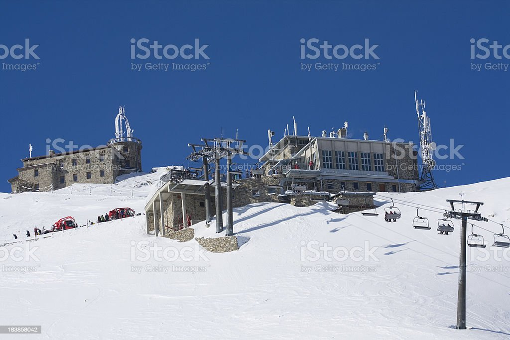 Mountain station of chairlift royalty-free stock photo