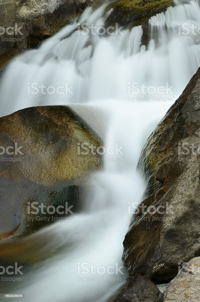 Mountain Stream, Boulder Canyon, Colorado stock photo