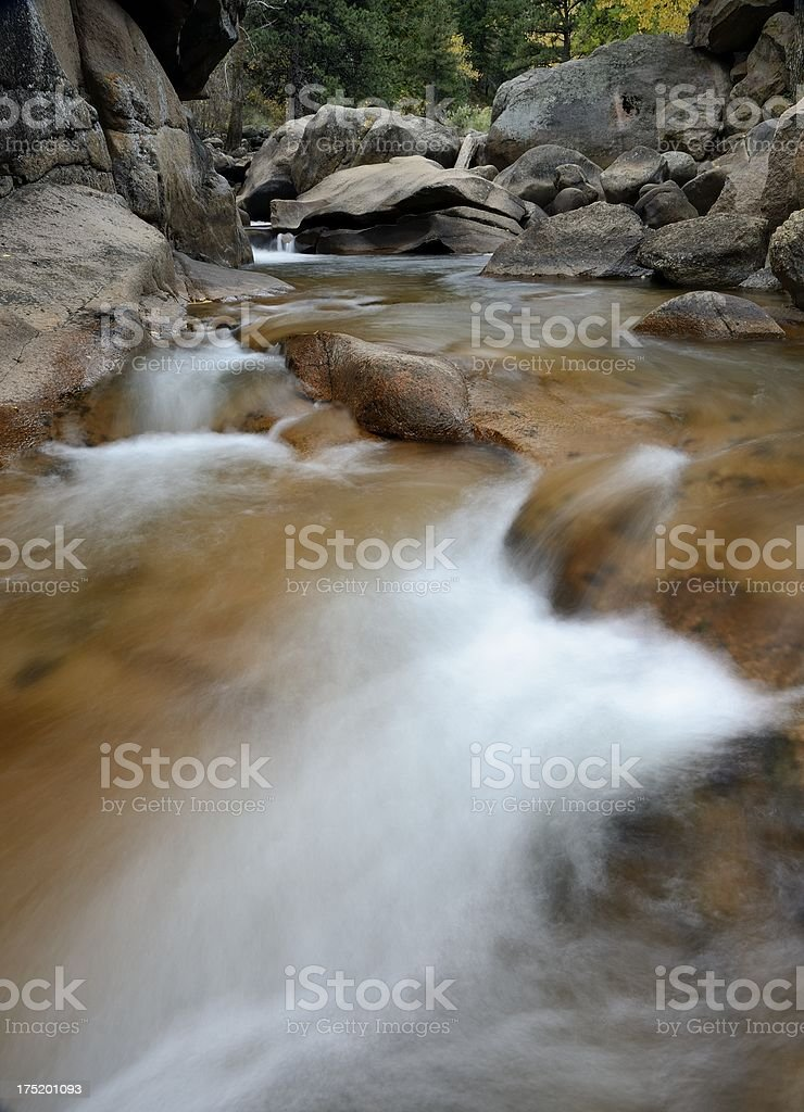 'Mountain Stream, Boulder Canyon, Colorado' stock photo