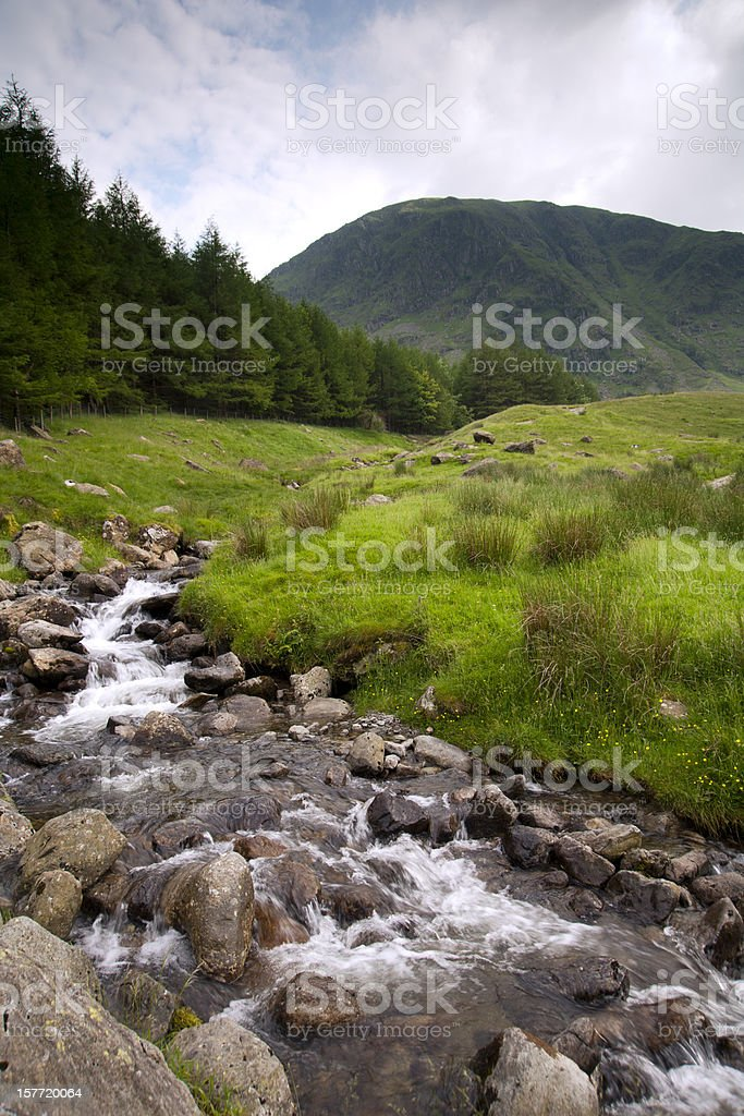 Mountain stream, Haweswater reservoir, Mardale valley, Cumbria, UK stock photo