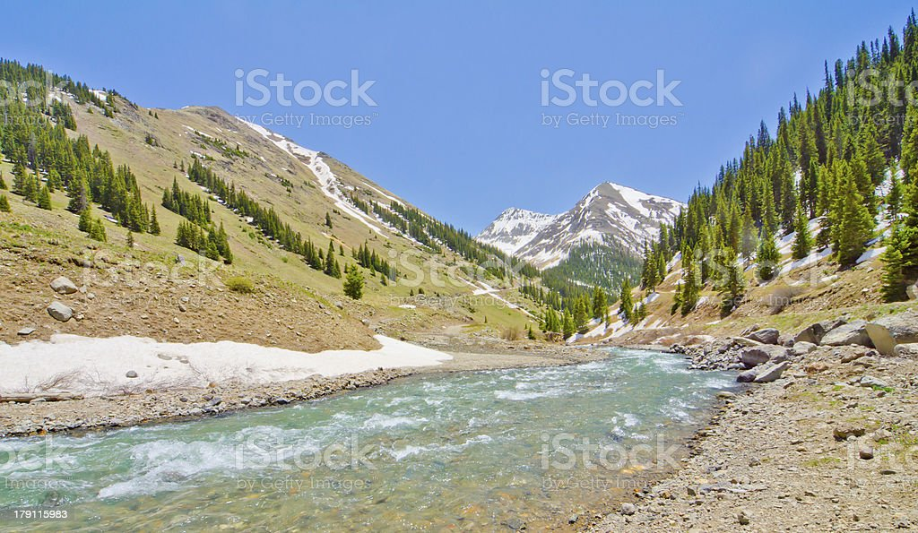 Mountain Stream in Animas Forks royalty-free stock photo