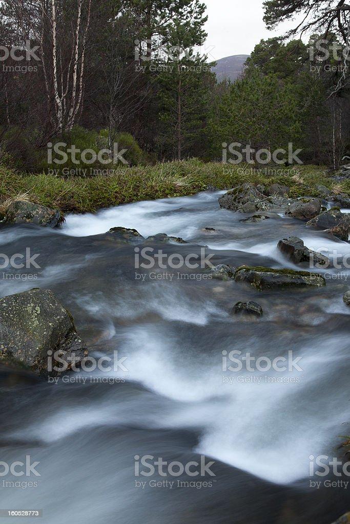 Mountain Stream Scottish Highlands royalty-free stock photo