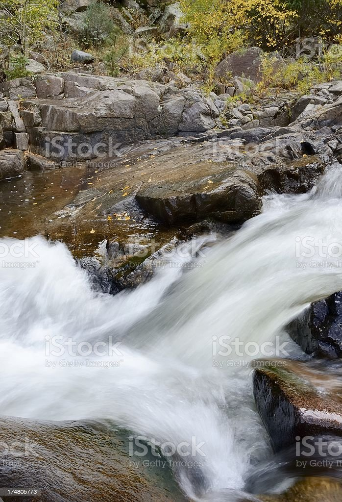 'Mountain Stream, St. Vrain Canyon, Colorado' stock photo
