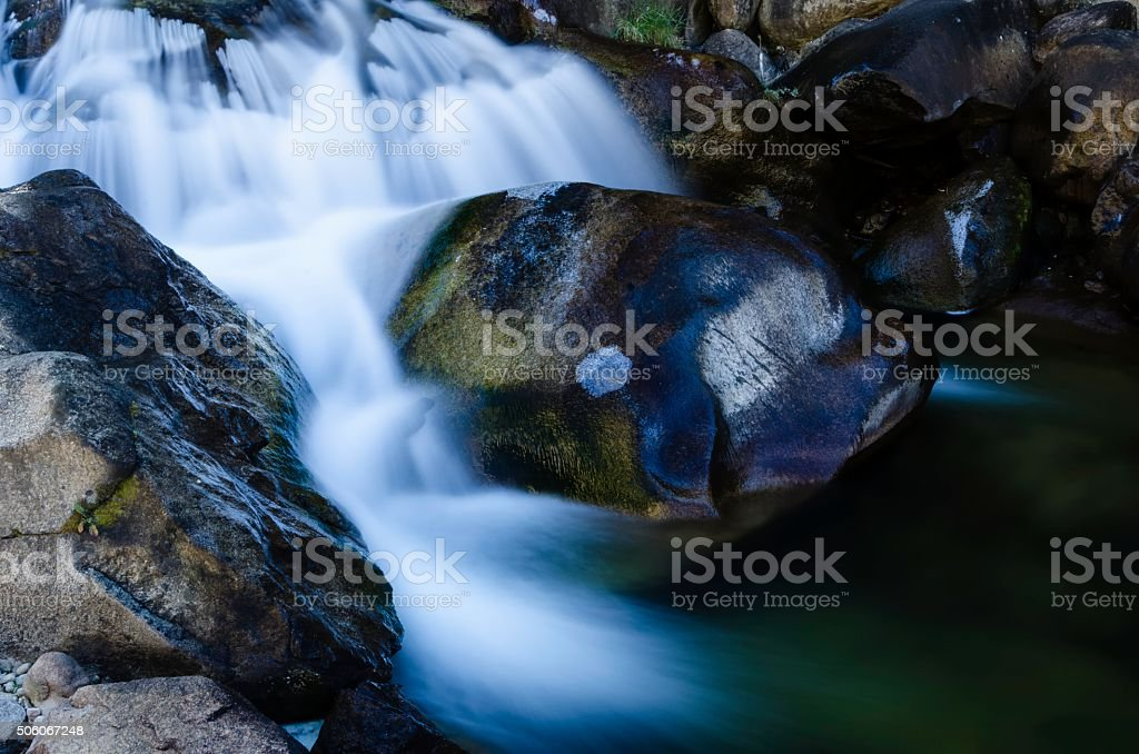 Mountain Stream, St. Vrain Canyon, Colorado stock photo