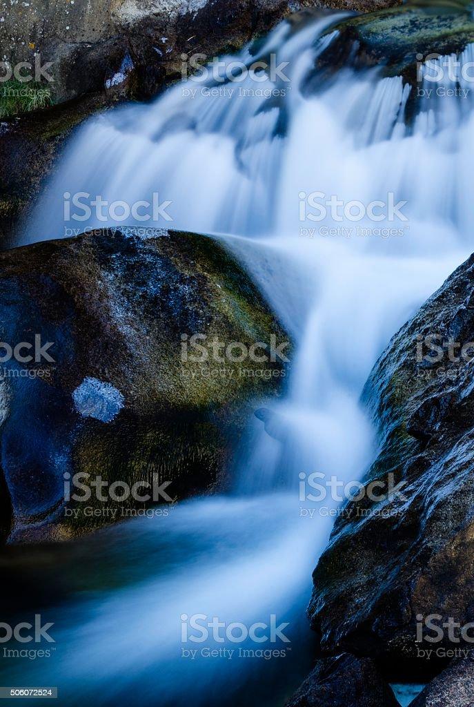 Mountain Stream, St. Vrain Canyon, Colorado stock photo