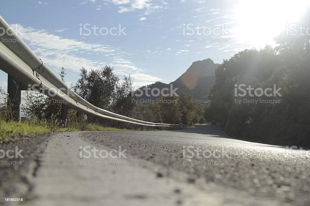 Mountain street in a sunny afternoon stock photo