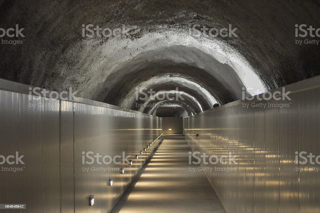 Mountain subway in Aosta Valley stock photo