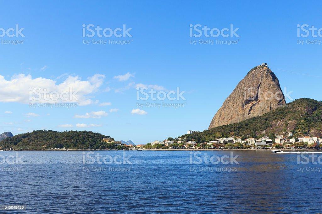 Mountain Sugarloaf from Botafogo, Rio de Janeiro, Brazil stock photo