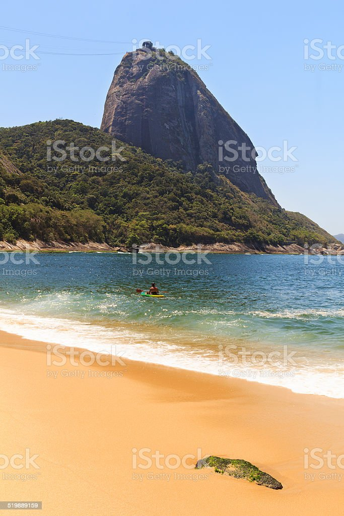 Mountain Sugarloaf Red beach (Praia Vermelha), Rio de janeiro, B stock photo
