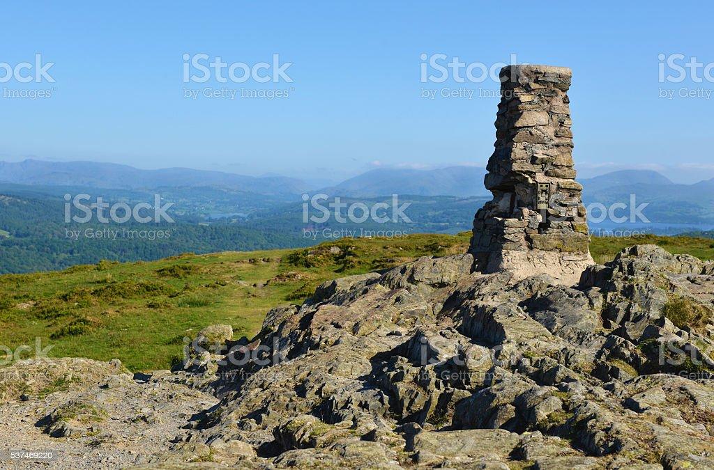 Mountain Summit in English Lake District stock photo