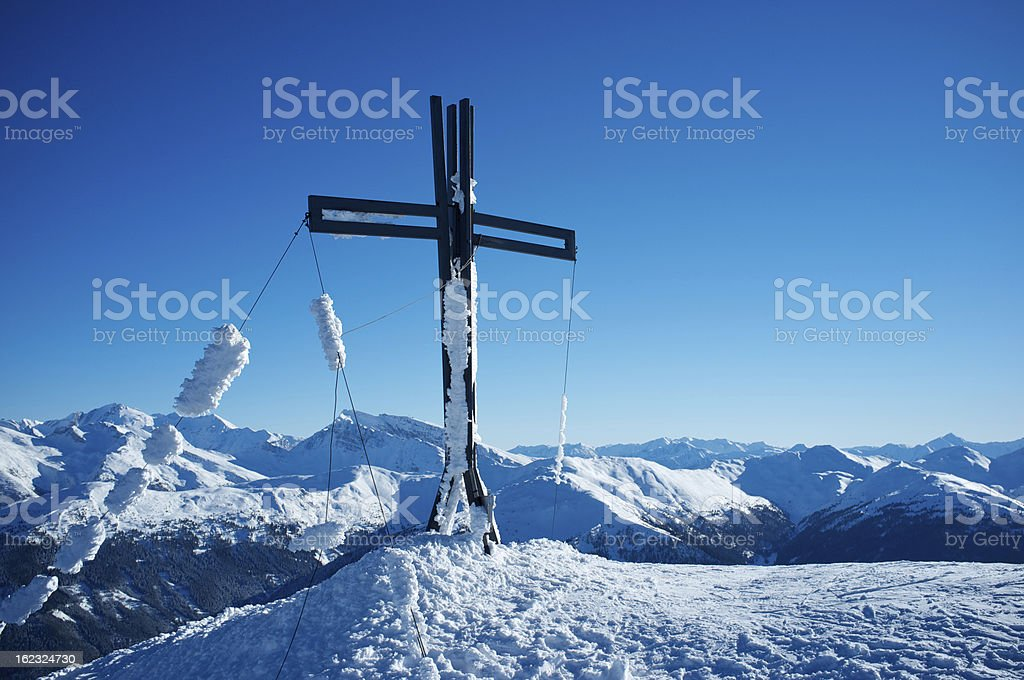 Mountain summit in the Alps royalty-free stock photo