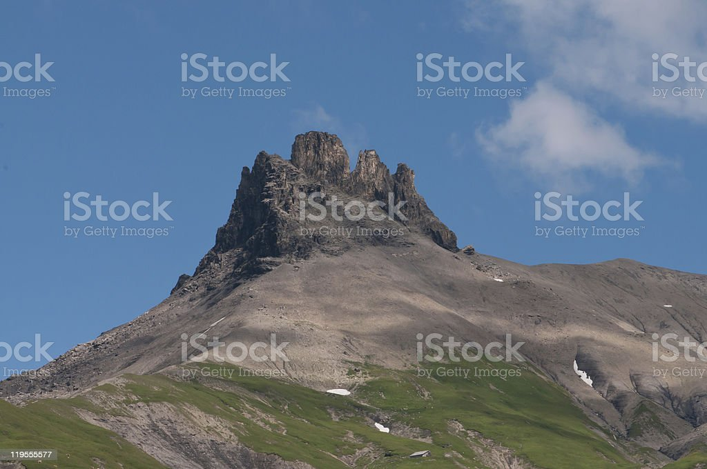 Mountain summit royalty-free stock photo