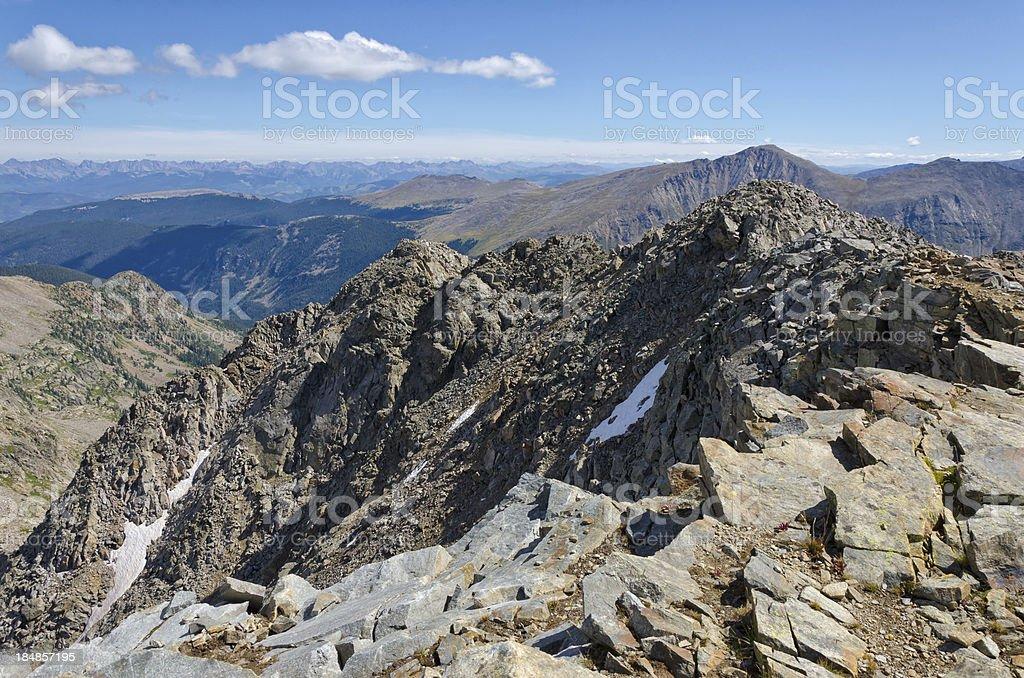 Mountain Summit View stock photo