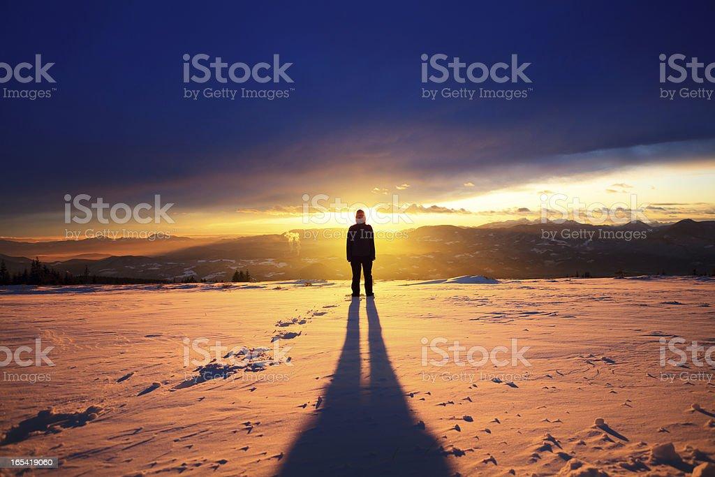 Mountain Sun royalty-free stock photo