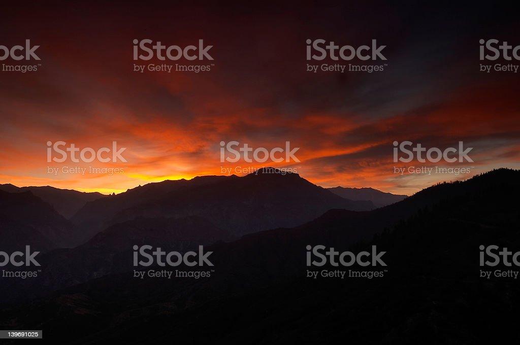 Mountain sunrise II stock photo