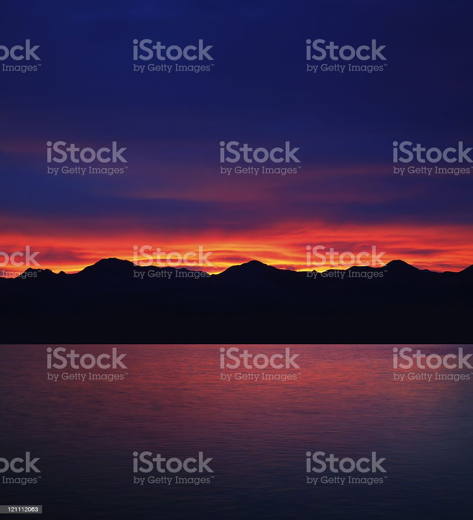 Mountain Sunrise stock photo