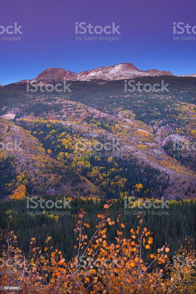 mountain sunset autumn royalty-free stock photo