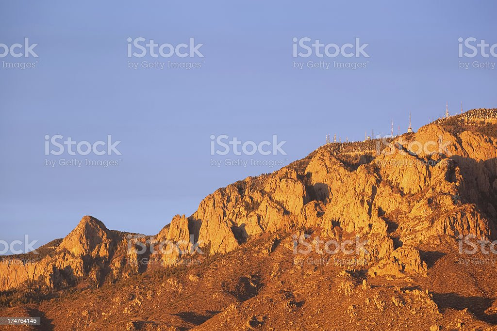 mountain sunset landscape communications royalty-free stock photo