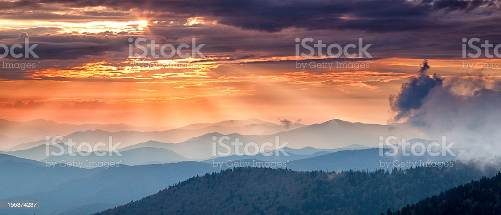 Mountain Sunset royalty-free stock photo