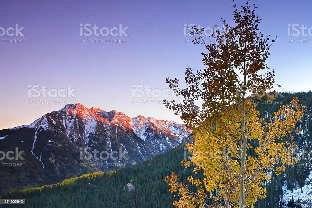 mountain sunset! royalty-free stock photo