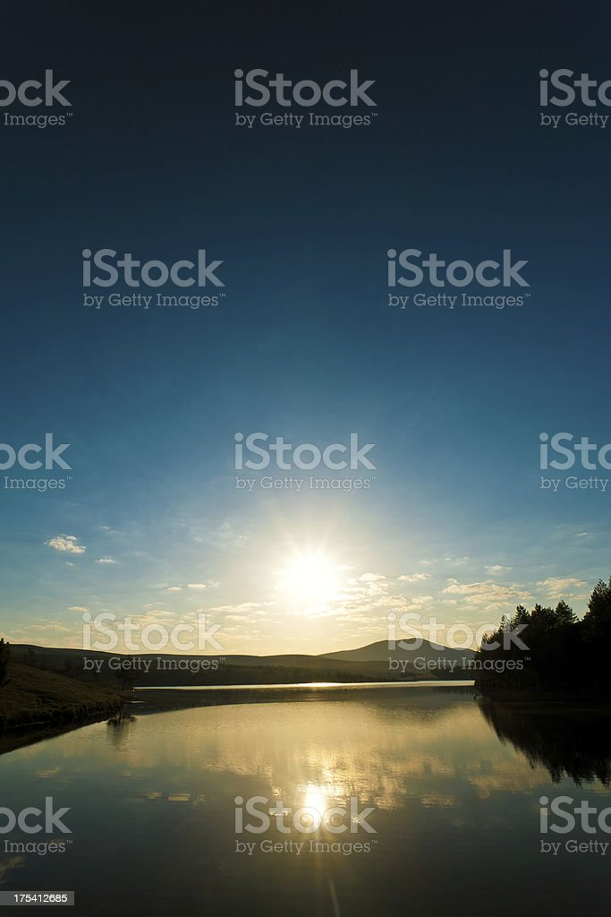Mountain sunset stock photo