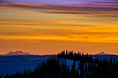 Mountain Sunset with Dramatic Color