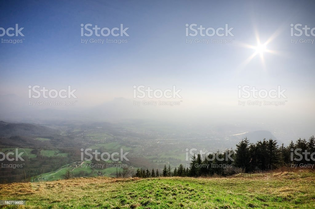 Mountain Sunshine stock photo