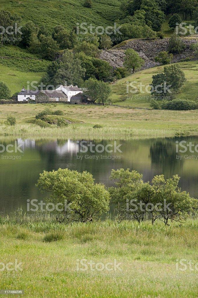 Mountain Tarn stock photo