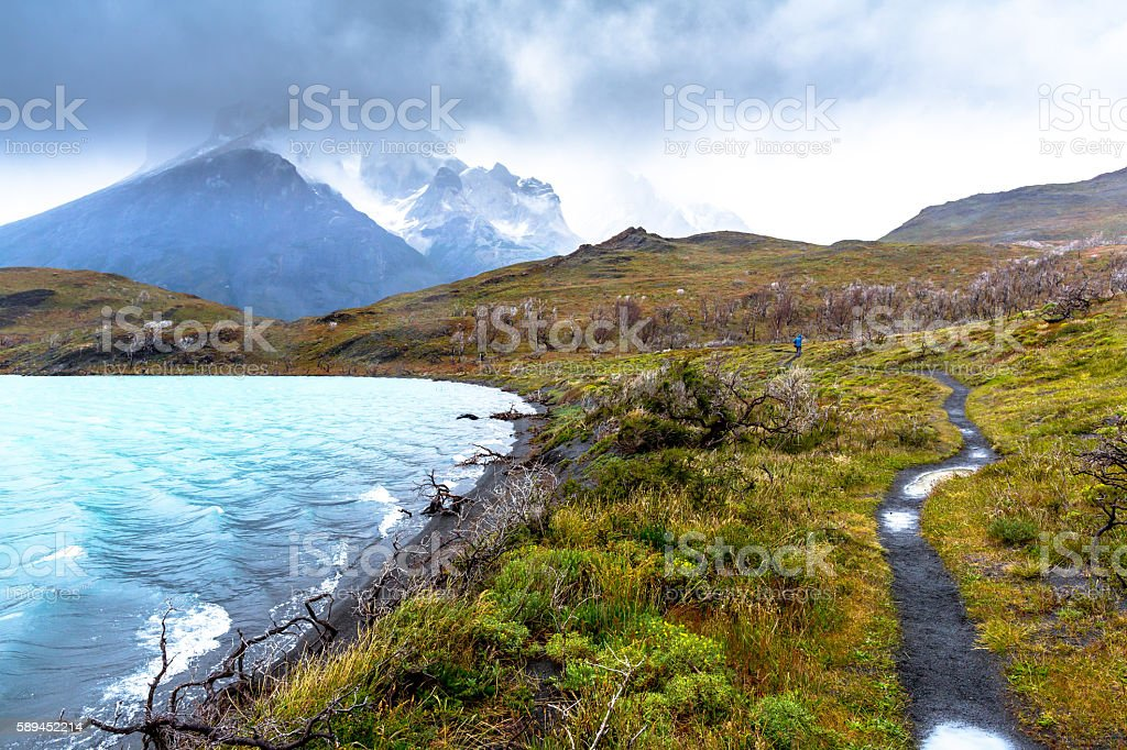 Mountain Time Patagonia stock photo