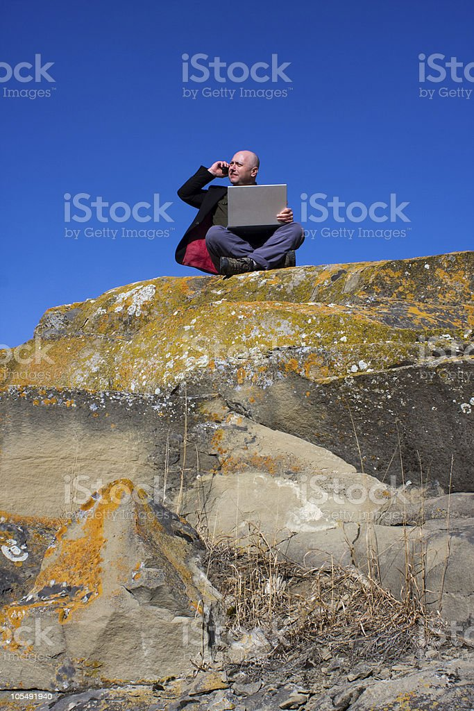 Mountain Top Business royalty-free stock photo